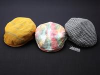 播州織ハンチング帽「クラッシュ」